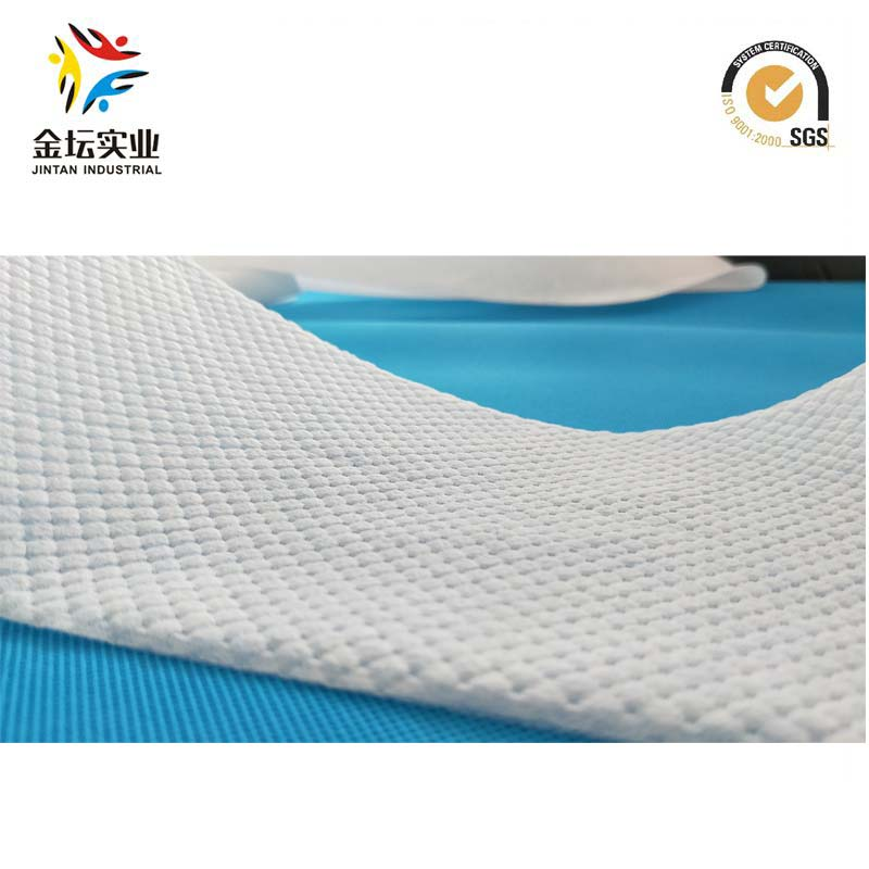 High End 3D Embossing Four Squar Chequer Low Fluffiness Hydrophilic Nonwovens for Baby Diaper Topsheet (YS-02)
