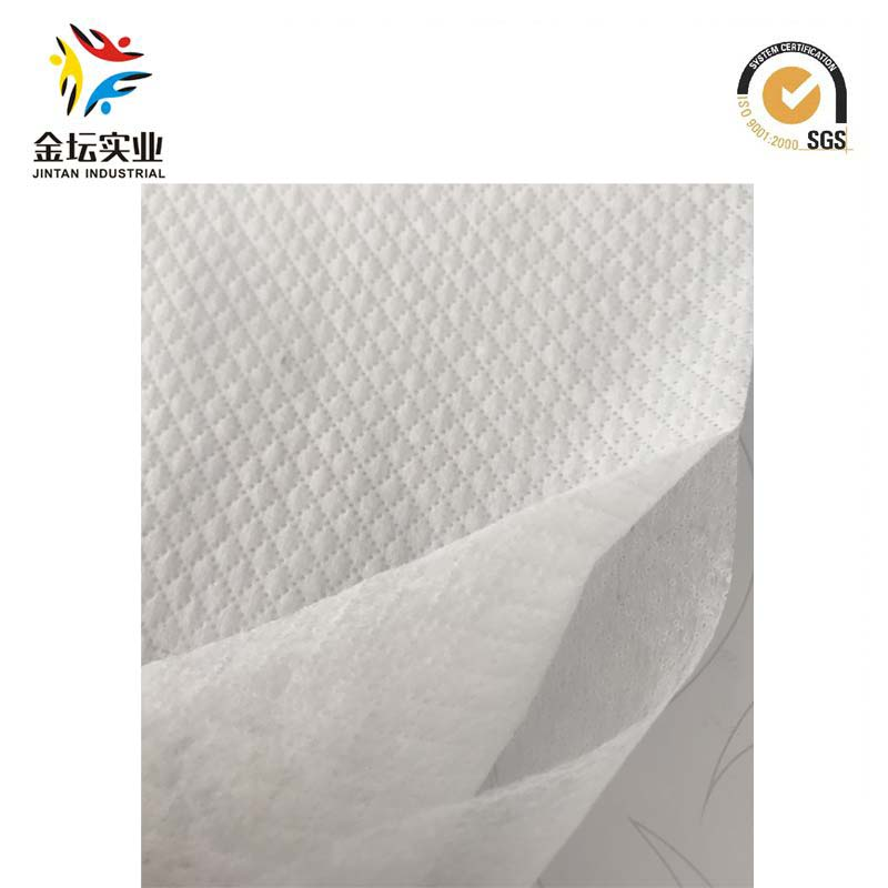 Wholesale 3D Embossing Rhombus Dot Double Layer Hydrophilic Hot Air Hydrophilic Nonwoven for Diaper/Sanitary Napkins (YS-03)